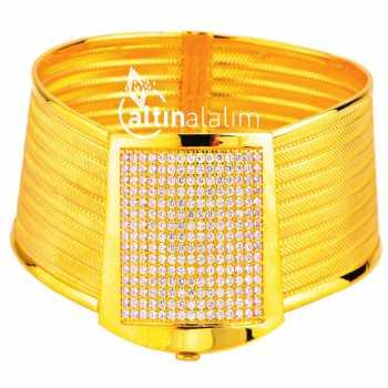 Kelepçe Hasır Altın Bilezik - ds000084