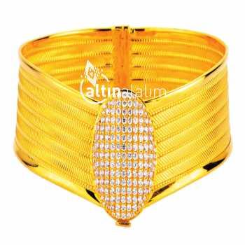 Kelepçe Hasır Altın Bilezik - ds000112