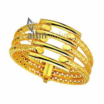 Kelepçe Hasır Altın Bilezik - ds000164