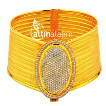 Kelepçe Hasır Altın Bilezik - ds000014