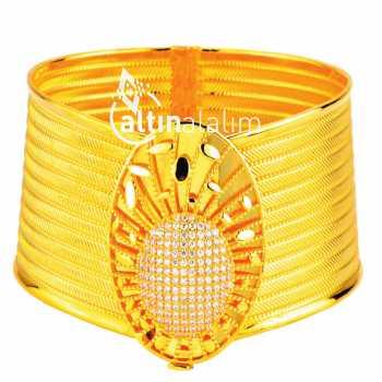 Kelepçe Hasır Altın Bilezik - ds000015