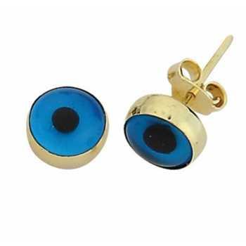 Göz Boncuk Altın  Küpe