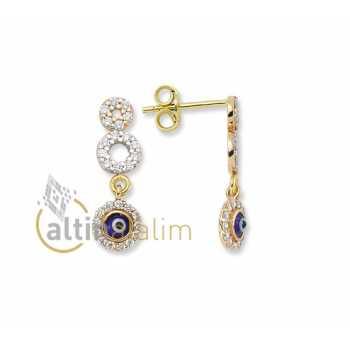 Şans Altın Küpesi -14 Ayar- kk04045