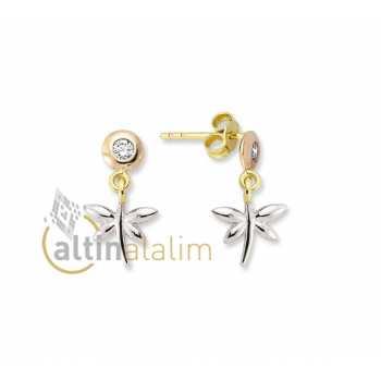 Yusufçuk Altın Küpe -14 Ayar- kk04046