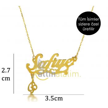 Özel Tasarım Altın İsimli Kolye - d8i00018