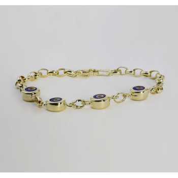 4 Yuvarlak Boncuklu Altın Bileklik - nzb03065