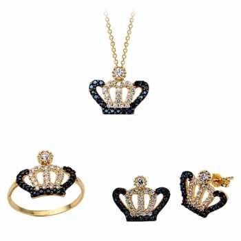 Kral Tacı Altın Mini Set