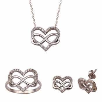 Sonsuzluk Kalp Altın Mini Set
