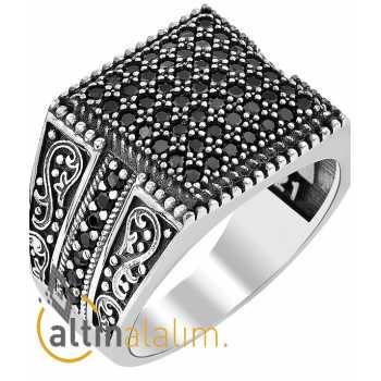 Zirkon Taşlı  Gümüş Yüzük - gum00135