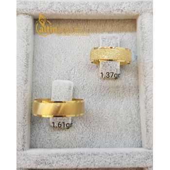 Evliliğin Simgesi Çift Altın Alyans - d4a00141