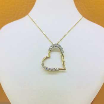 Kalp  Altın Kolye - d4k00050