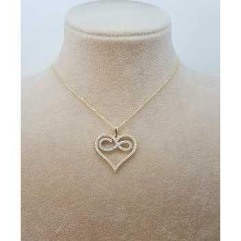 Kalp İçi Sonsuzluk Altın Kolye - d8k00091