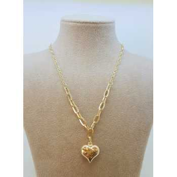 Kalp Figürlü Altın Kolye - d8k00095