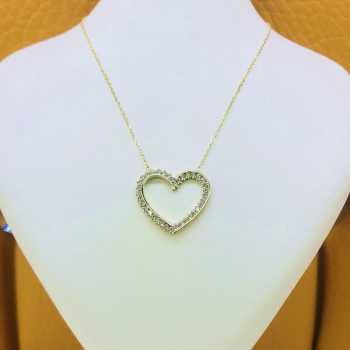 Kalp Altın Kolye - d8k00004