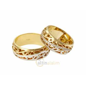 Özel Altın Çift Alyans - sa0752
