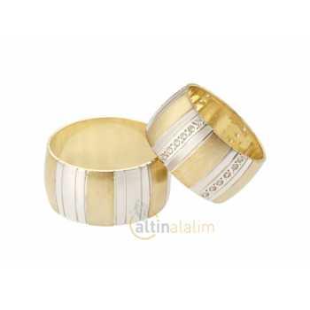 Özel Altın Çift Alyans - sa0762